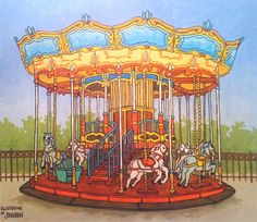 Carousel illustration for the 'Illustration Friday' challenge