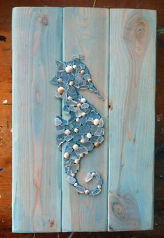 Sign of Sea Life Large Sea Glass Beach Glass Seahorse by SignsOf, $85.00