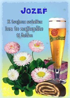 Jozef K tvojmu sviatku len to najlepšie ti želám Wine Glass Images, Birthday Wishes, Blog, Humor, Special Birthday Wishes, Humour, Blogging, Funny Photos, Funny Humor