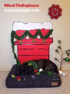 Decorate your dog's space with our DIY Snoopy's Doghouse Wall Decoration | #DecktheDoghouse http://kolchakpuggle.com/2014/12/diy-snoopys-doghouse-wall-decoration.html