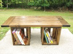 This one has storage in the front and back!  Coffee Table Rustic Crate Storage Country by EvergreenFurniture, $335.00
