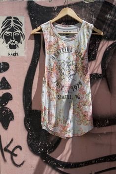 UO Grateful Dead floral muscle tee (shot by Julia Finch)