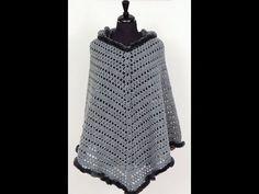 Crochet: Poncho with Hat. Crochet Coat, Crochet Winter, Crochet Shawl, Easy Crochet, Crochet Stitches, Free Crochet, Crochet Patterns, Knitting Videos, Crochet Videos