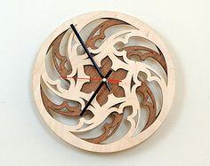 28cm di legno Orologio da parete / Home Decor / di KWUDLV su Etsy