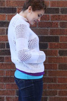 WORK+SHELTER Lace Striped Sweaters knitting pattern