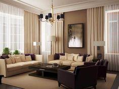 Warna Cat Ruang Tamu Yang Baik Dan Sejuk Sheer D Beige Curtains Long