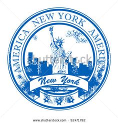 grunge rubber stamp with statue of liberty and the word new york america inside vector illustration New York Scrapbooking, New York Tattoo, Travel Journal Scrapbook, Travel Stamp, Journal News, Aesthetic Stickers, Custom Stamps, Tampons, New York Travel