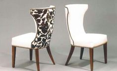 Add an extra touch of personality with cow print dining room chairs ...