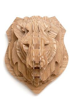 3D Maple Lion Head on HauteLook