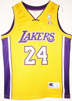 504bbd284a0 Champion NBA Basketball Los Angeles Lakers  24 Kobe Bryant Size 36 - Größe  S -