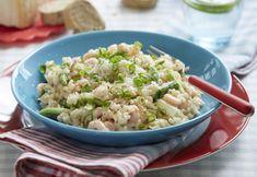 Let og lækker hverdagsmad - risotto med rejer, forårsløg og parmesan