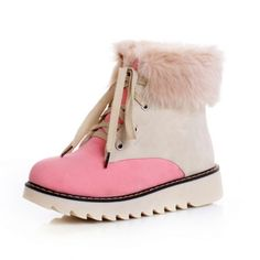 41.00$  Buy now - http://ali2lb.worldwells.pw/go.php?t=32713838965 - Women Boots Plush Snow Shoes For Women Winter Boots 2016 High Top Lace Up Warm Fur Platform Ankle Boots Botas Mujer 41.00$