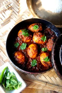 Dim Kasha : Bengali style Eggs in braised onions and tomato gravy
