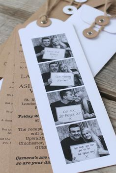 Photo Booth wedding invitations, great fun!