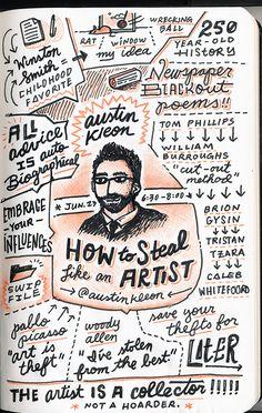 how to steal like an artist 1 - Gerren Lamson | Sketchnotes: How Design Live 2013