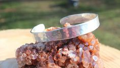 999 Silver Hand Crafted Unisex Cuff Bracelet by FairyFresh on Etsy