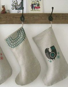 Handmade Icelandic Christmas Stocking (Etsy; roddyandginger; 22.)