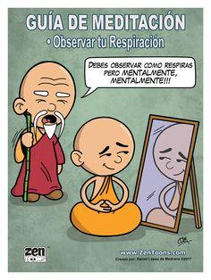 AFICHE ZENTOONS 09. Guía de Meditación. #zentoons #webcomics #zencomics #cuentoszen #historiaszen #zenpencil #espiritualidad #zen #budismo