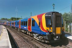 BR Class 450 'Desiro' in South West Trains livery — built by Siemens