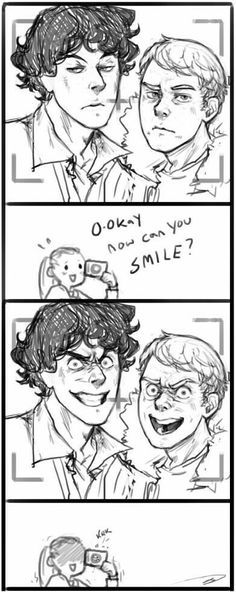 Sherlock Holmes & John H. Sherlock Bbc, Sherlock Comic, Sherlock Holmes Benedict, Sherlock Fandom, Jim Moriarty, Sherlock Quotes, Johnlock, Benedict Cumberbatch, Martin Freeman