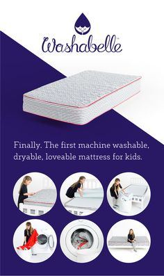 Washabelle, the first machine washable kids mattress, developed to solve the challenges of potty training, bed wetting and cleaning a mattress. Kids Mattress, Mattress Cleaning, Foam Mattress, Bed Wetting, Potty Training Tips, Behavior Modification, Raising Kids, Parenting Hacks, Kids Bedroom