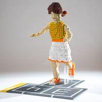 HopscotchGirl by artist Sandra san Miguel