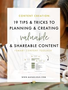 "Looking to have more ""shareworthy"" posts? Here are 19 tips and tricks for planning, creating and designing shareable content."
