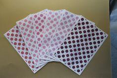 60 Kraft paper bags polka dots pattern / sacchetti di carta big pois  / sacchetti confettata matrimonio anniversario comunione di PickaPack su Etsy