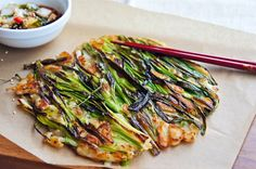 Recipe:  Pajeon, Korean Green Onion Pancake
