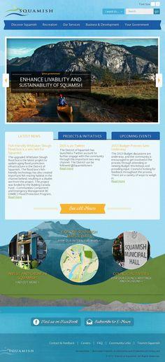 Squamish Website Design - 'http://www.squamish.ca/'