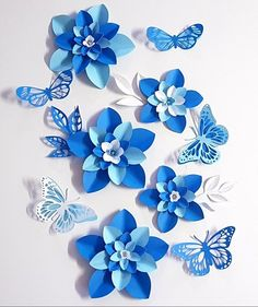 SALE Paper Flower Decorations 7 Table Decor PDF Digital flowers flowers decor Table Topper This is a set of Table Decorations Paper flower Toppers or Filler Flowers butterflies and leaves This template assists you to make up small flowers, butterf Paper Flowers Craft, Paper Flowers Wedding, Crepe Paper Flowers, Paper Flower Backdrop, Paper Roses, Wedding Paper, Felt Flowers, Flower Crafts, Diy Flowers