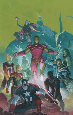Buy AVENGERS RIBIC VAR from Marvel Comics and other great comics & collectibles at discounted prices. Marvel Avengers, Marvel Comics Art, Marvel Heroes, Captain Marvel, Captain America, Comic Book Artists, Comic Books Art, Comic Art, Marvel Universe