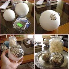 Artesanato com Bolas de Isopor