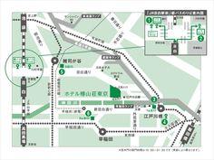 アクセス | 東京のホテルならホテル椿山荘東京。 Architecture Board, Urban Architecture, Map Design, Graphic Design, Map Layout, Illustrated Maps, Information Design, Location Map, Environmental Design