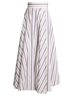 Striped cotton maxi skirt | A.W.A.K.E. | MATCHESFASHION.COM