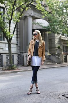 layered top with cropped pants