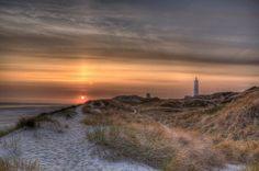 Blavand Lighthouse Sunset   Flickr - Photo Sharing!