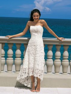 My wedding dress. I wore in Beach Wedding Dresses-Elegant A-Line/Princess Strapless Asymmetrical Satin Lace Wedding Dress with Lace Beadwork by 2013 Lace Beach Wedding Dress, Sweetheart Wedding Dress, Tea Length Wedding Dress, Wedding Dress Sizes, Lace Dress, Gown Wedding, Wedding Beach, Beach Weddings, White Dress