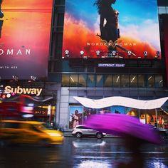 City colors A rainy night in New York city. #NYC #city #bigapple #manhatten #newyork #usa #lights #colors #farben #grossstadt #regen #bunt #colorfull #stadt #cinema #cars #bus #red