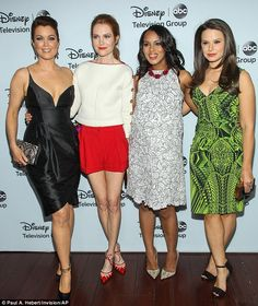 Actresses Bellamy Young, Darby Stanchfield, Kerry Washington, and Katie Lowes were radiant
