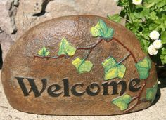 Custom Welcome Rocks, Stones and Wood Signs from Carved Stone by ...