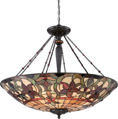 Quoizel TFKM2840VB Kami Art Nouveau Tiffany Pendant  Quoizel Kami Art Nouveau Tiffany Collection - Call Brand Lighting Sales 800-585-1285 to ask for your best price!