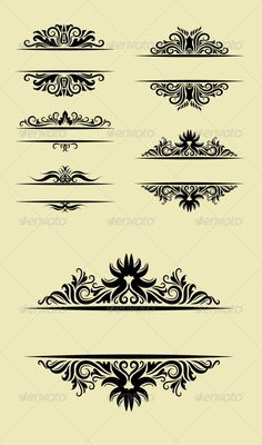 Floral Ornament Decorations  #GraphicRiver         Blank label ornament decorations, good use for your invitation cover decoration, label ornament, or any design you want. Easy to use, edit, or change color.  	 ZIP included : AI CS cmyk, EPS8, CDR coreldraw (vector files, can use any size you want without loss resolution. Use Adobe Illustrator or any support vector file to edit), JPEG high resolution, PNG transparent, and PSD photoshop file     Created: 13August13 GraphicsFilesIncluded…