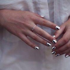 Silver nail wraps