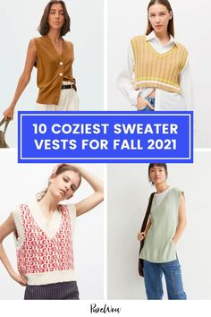 Made famous by characters from your fave 90s show and your grandfather, sweater vests are trending once more. Here are 10 knits we currently have our eye on. #sweatervest #fashion #trend Cozy Sweaters, Sweater Vests, City Chic, Say Hello, Color Trends, Knits, What To Wear, Knitwear, Autumn Fashion