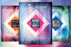 House Music Flyer by Krukowski Graphics on @creativemarket