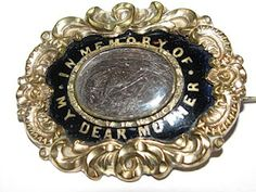 """Mourning Brooch """"In Memory of My Dear Mother"""""""
