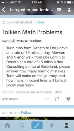 @haldirsdaughter BONUS QUESTION WHAT ARE THE ODDS OF TURIN SURVIVING PLEASE SHOW YOUR WORK.