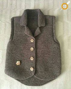 Boys & Vest Models - 108 Boys& Vests Boys& knit vest models Always wanted to be able to knit, nonetheless undecided the place to begin? Baby Cardigan, Baby Pullover, Baby Knitting Patterns, Knitting For Kids, Baby Overall, Knit Vest Pattern, Knitted Baby Clothes, Baby Sweaters, Pulls