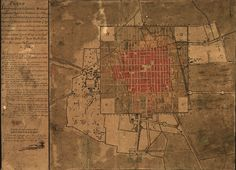 Mexico - Architect Ignacio Castera Mayor made a city plan (1794)